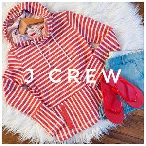 J CREW striped hooded sweatshirt